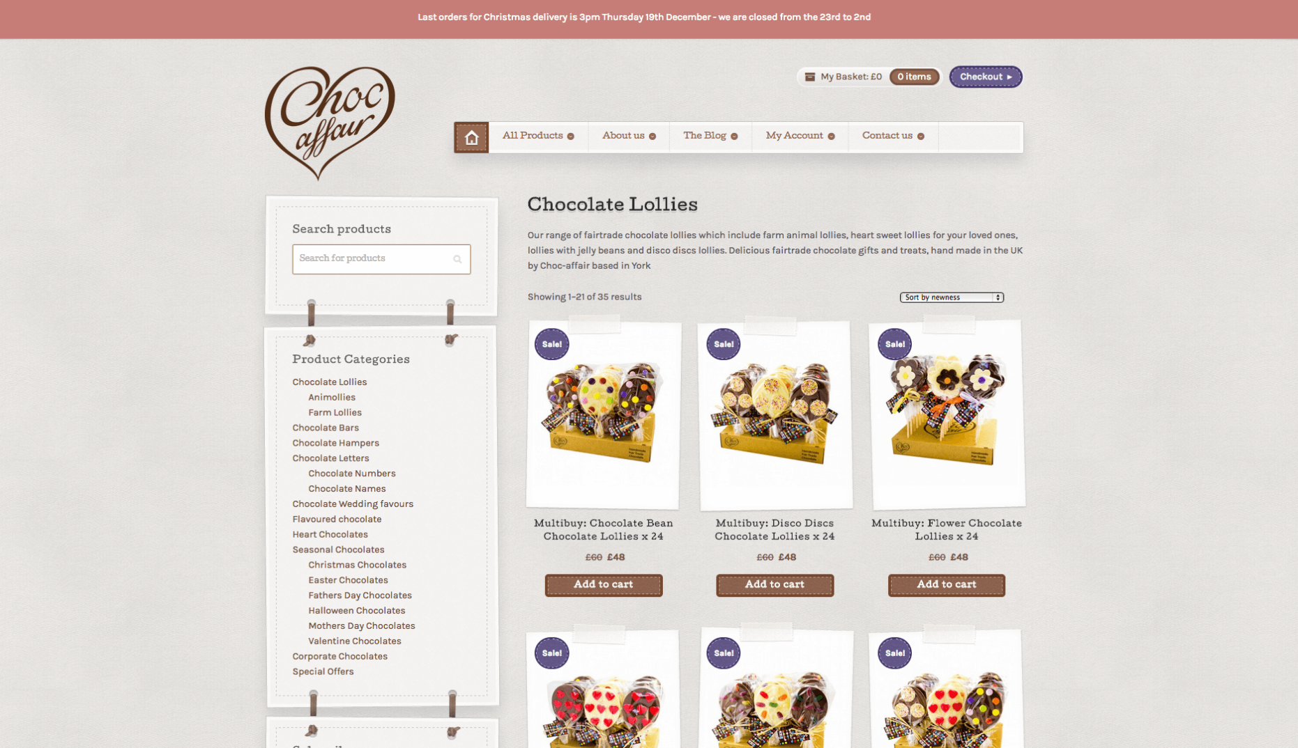 Screen Shot 2013 12 23 at 16.24.45 e1507565681539 - Website redesign for chocolate manufacturer