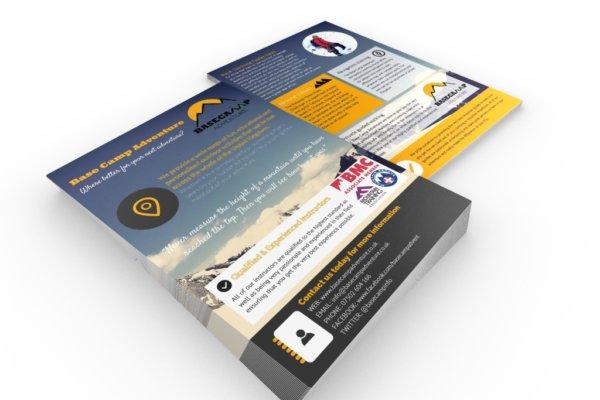 BCA portfolioflyer1 600x400 - Flyer & brochure design for outdoor adventure company
