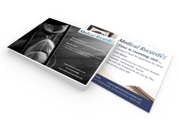 MRUK portfolio1 600x400 - Advert design for medical record collation and pagination company
