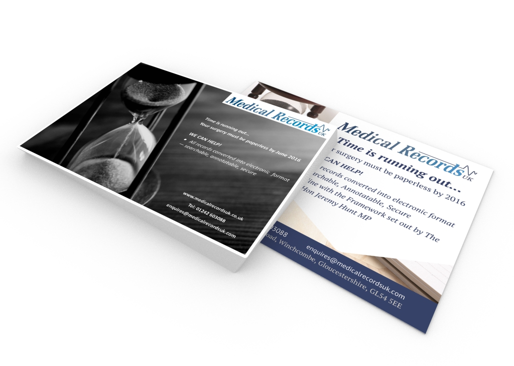 MRUK portfolio1 - Advert design for medical record collation and pagination company