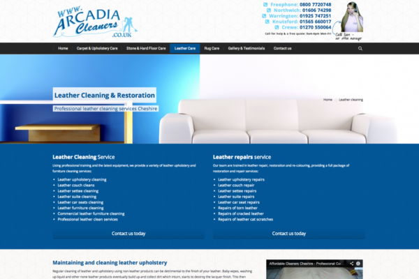 Screen Shot 2013 12 23 at 16.20.54 600x400 - Website design for Cheshire based carpet, upholstery and floor cleaning company