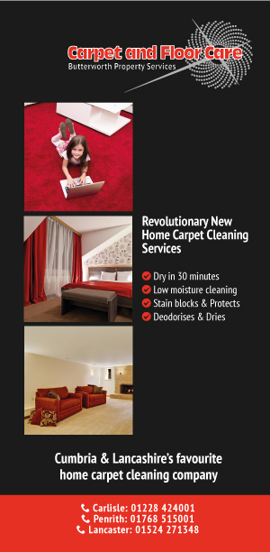 front - Flyer design for commercial cleaning company