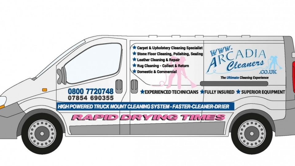 Van wrap design for Cheshire based carpet, upholstery & floor cleaning company