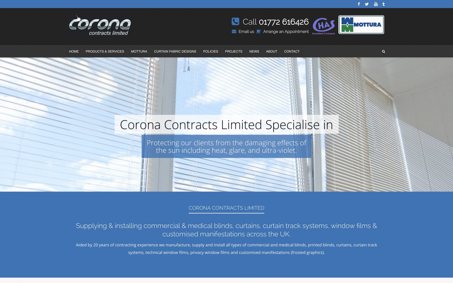Screen Shot 2015 12 09 at 20.09.09 - Website design for curtain & blind manufacturers