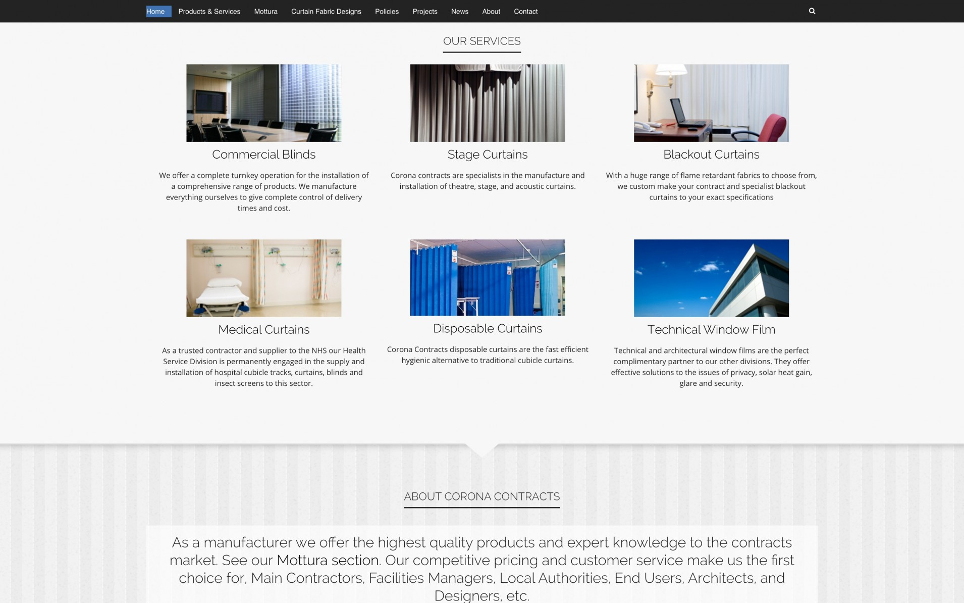 Screen Shot 2015 12 09 at 20.09.21 - Website design for curtain & blind manufacturers