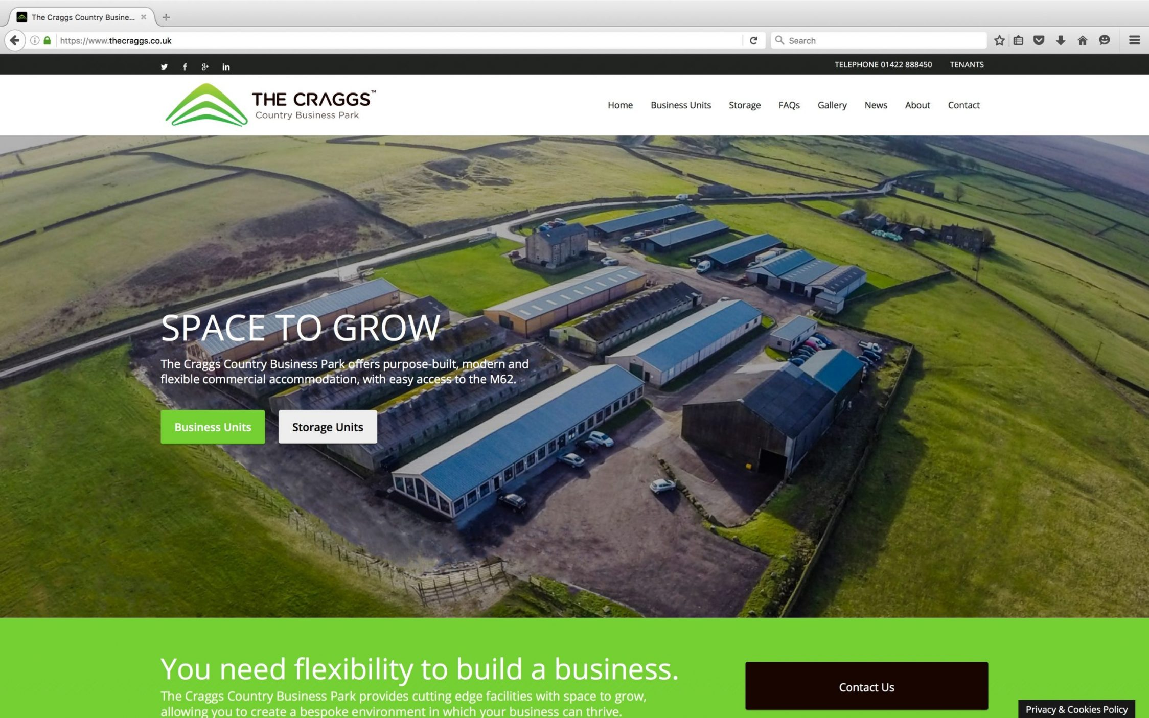 Screen Shot 2016 03 21 at 15.21.48 - Website design for business park in Yorkshire
