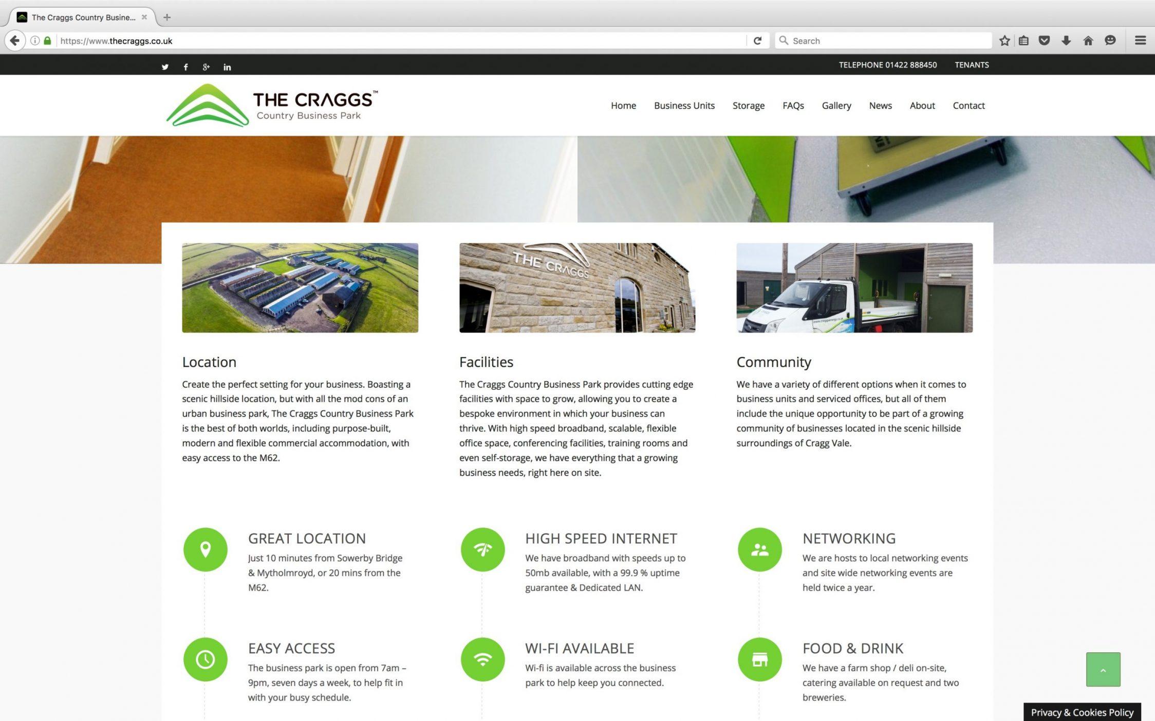 Screen Shot 2016 03 21 at 15.22.01 - Website design for business park in Yorkshire