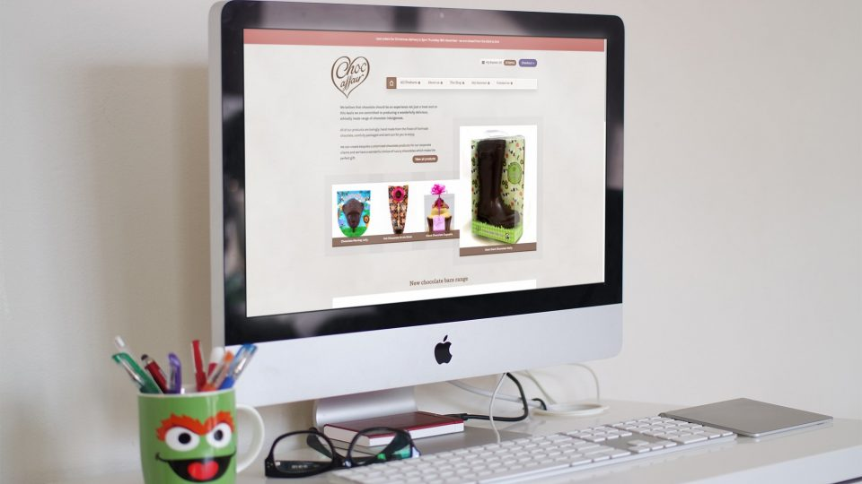Website redesign for chocolate manufacturer