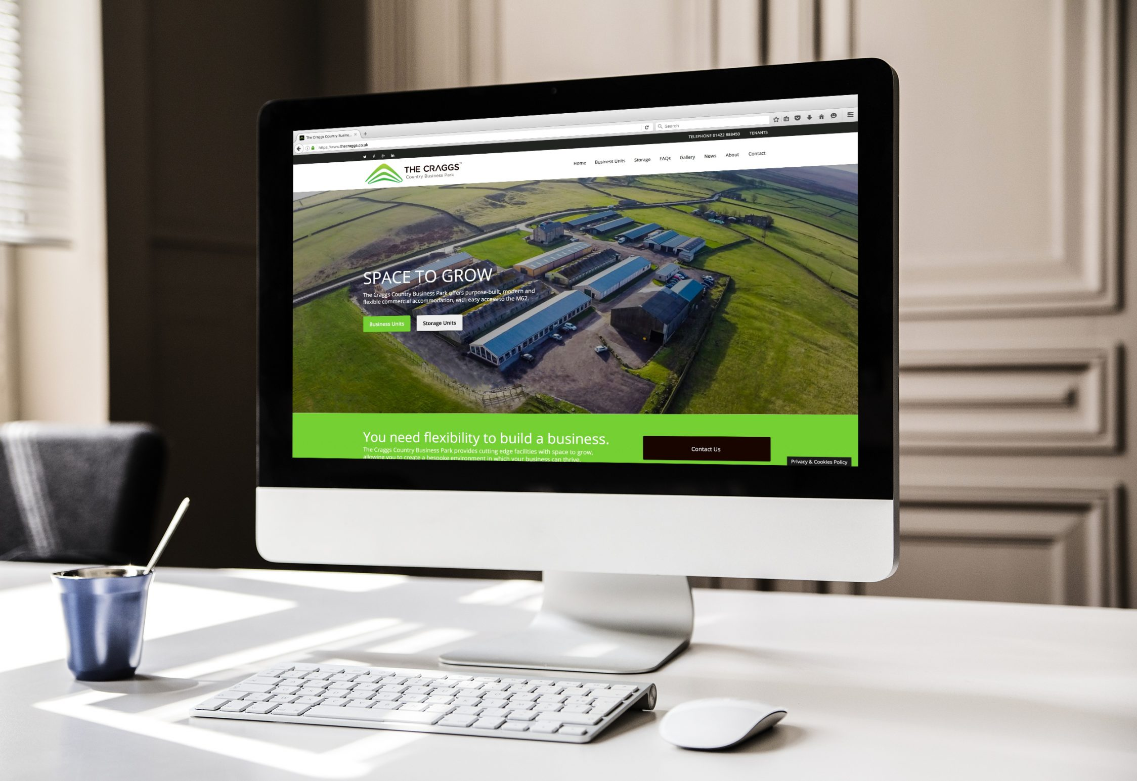Website design for business park in Yorkshire