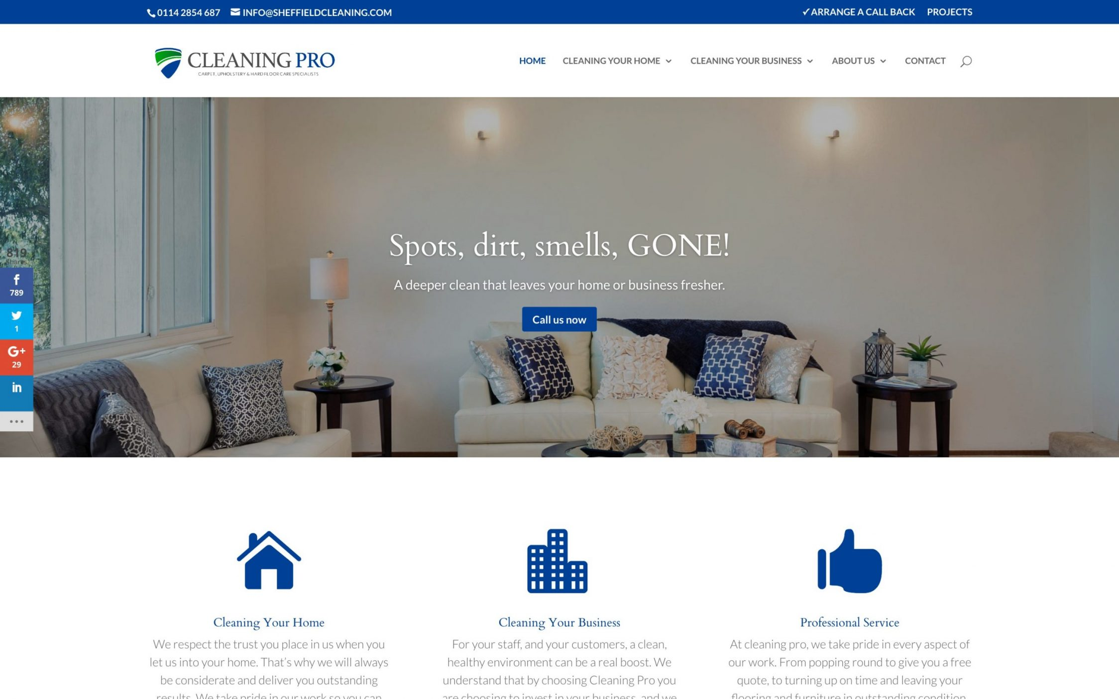 Screen Shot 2016 11 09 at 15.51.54 - Carpet cleaning business webdesign