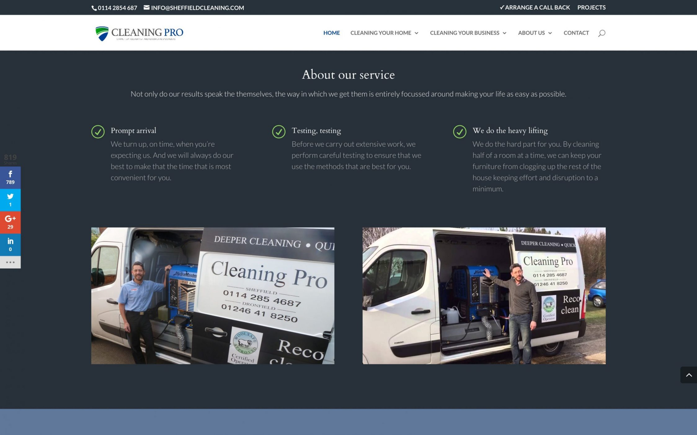 Screen Shot 2016 11 09 at 15.52.08 - Carpet cleaning business webdesign