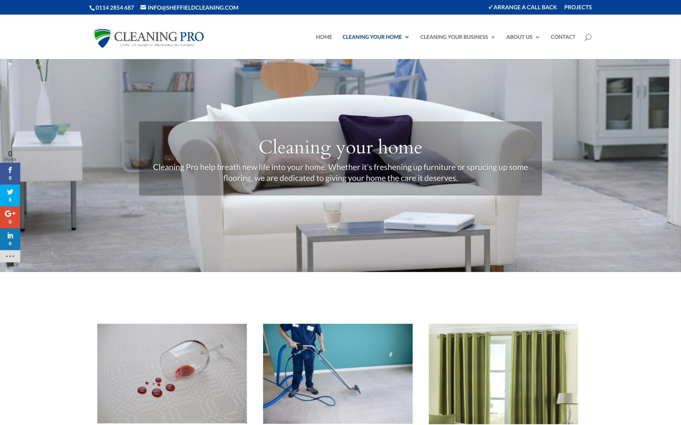 Screen Shot 2016 11 09 at 15.52.37 - Carpet cleaning business webdesign