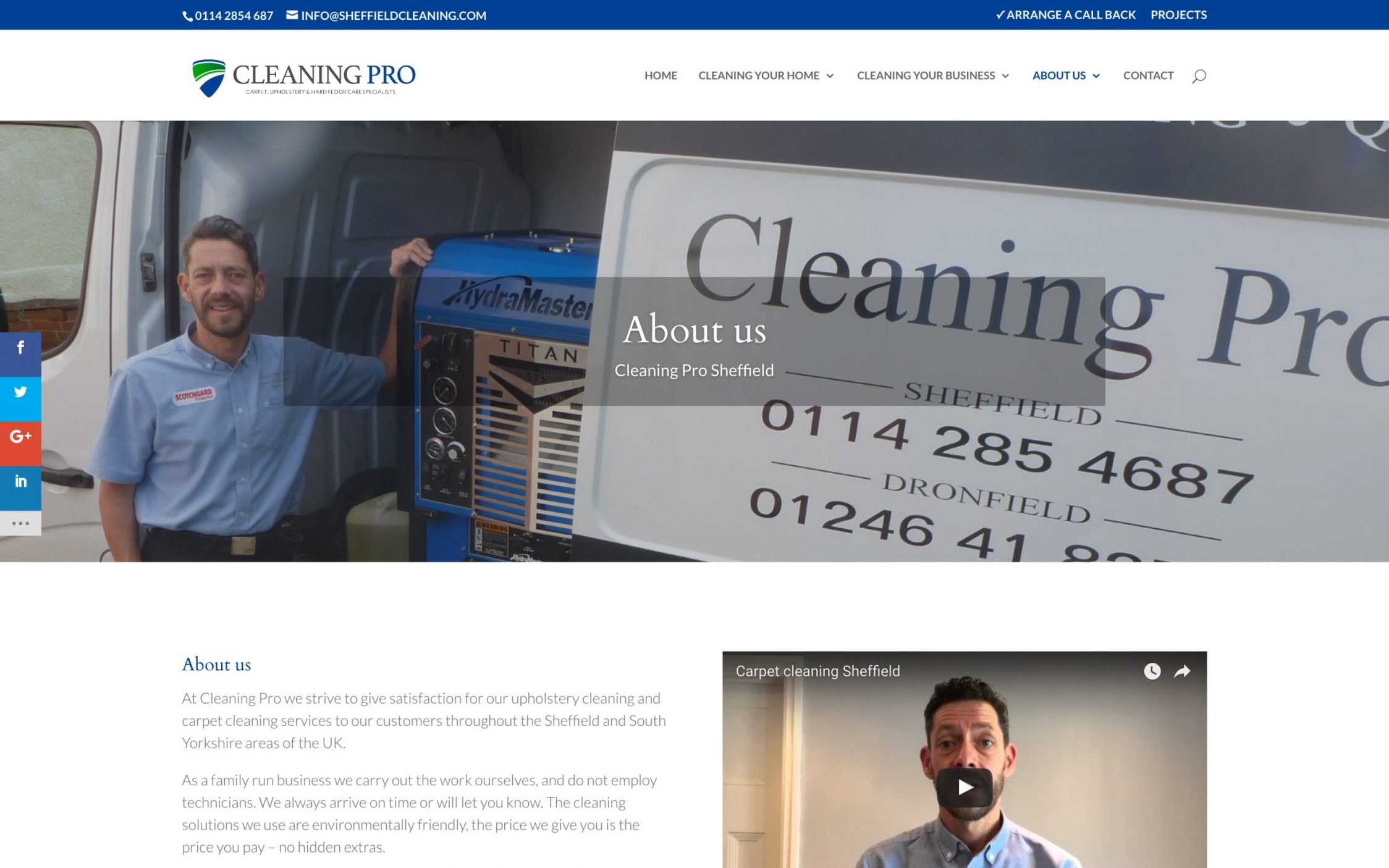 Screen Shot 2016 11 09 at 15.52.55 - Carpet cleaning business webdesign