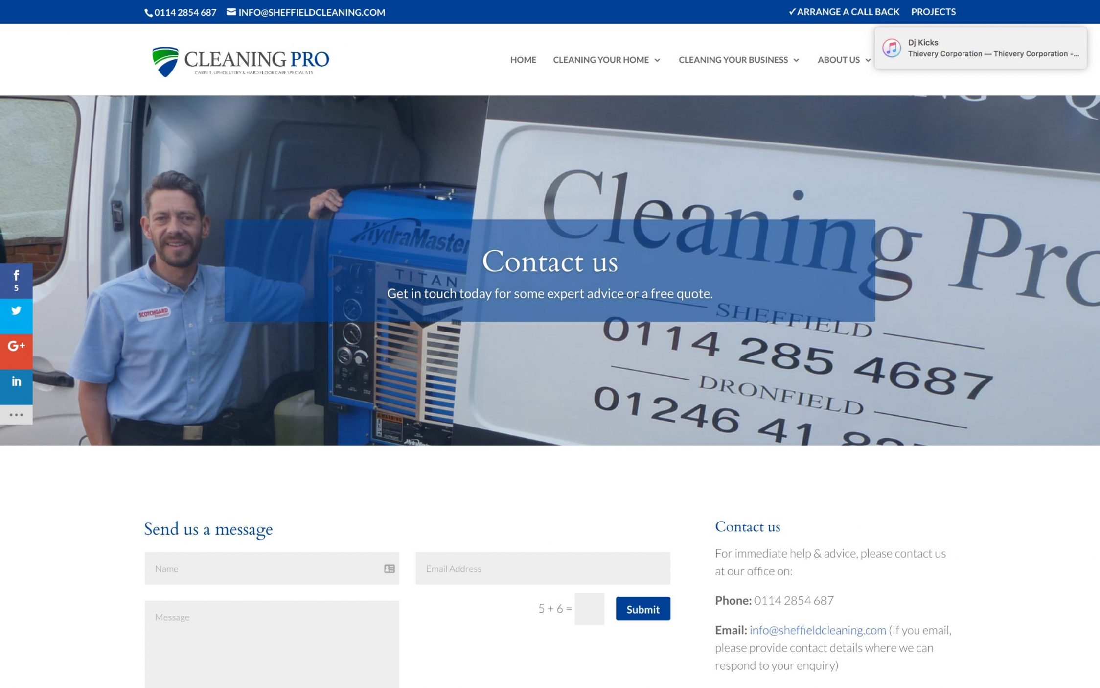 Screen Shot 2016 11 09 at 15.53.04 - Carpet cleaning business webdesign
