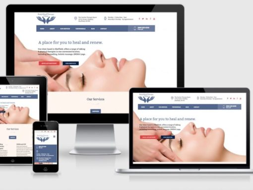 Webdesign for yoga and counselling clinic