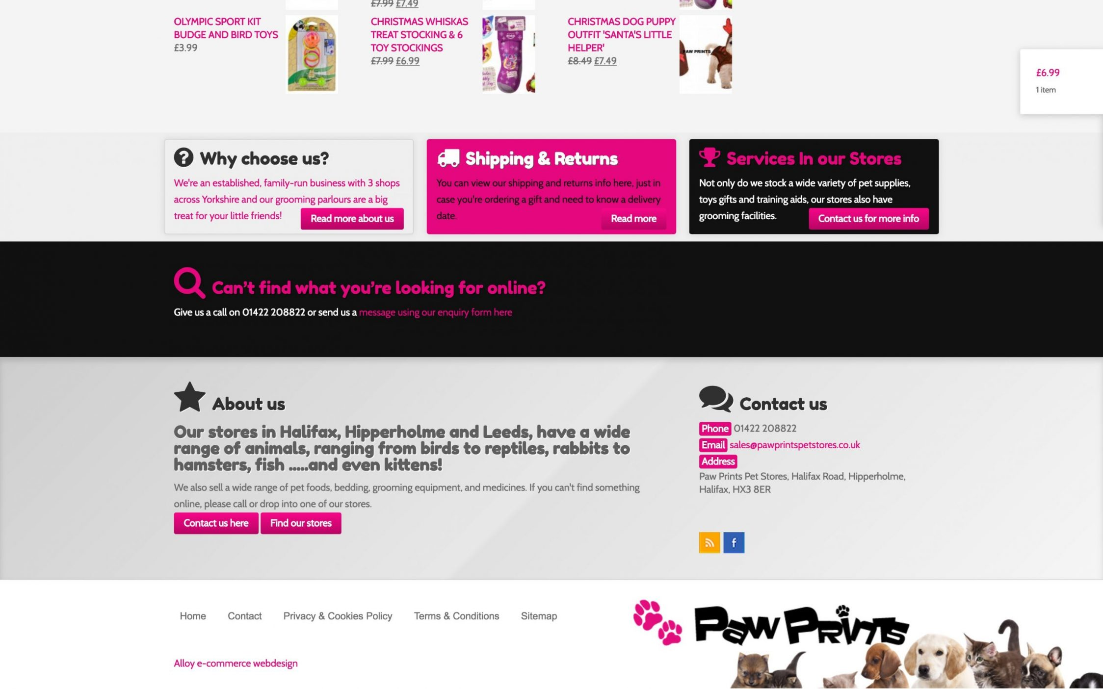 Screen Shot 2016 11 09 at 23.06.32 - Webdesign for pet shop chain in Yorkshire