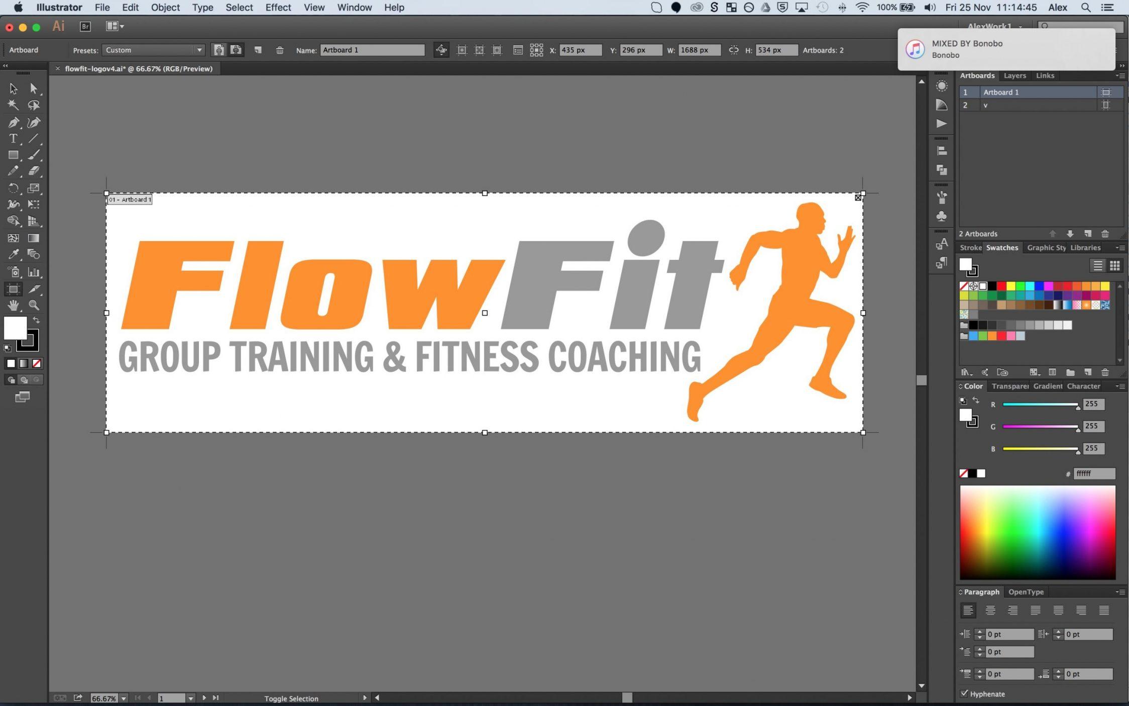 Screen Shot 2016 11 25 at 11.14.45 - Logo design & branding for fitness instructor