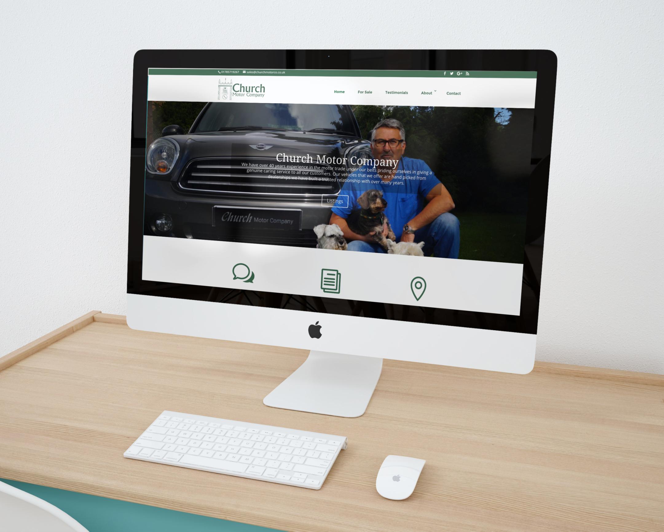 Webdesign for car dealership in Midlands