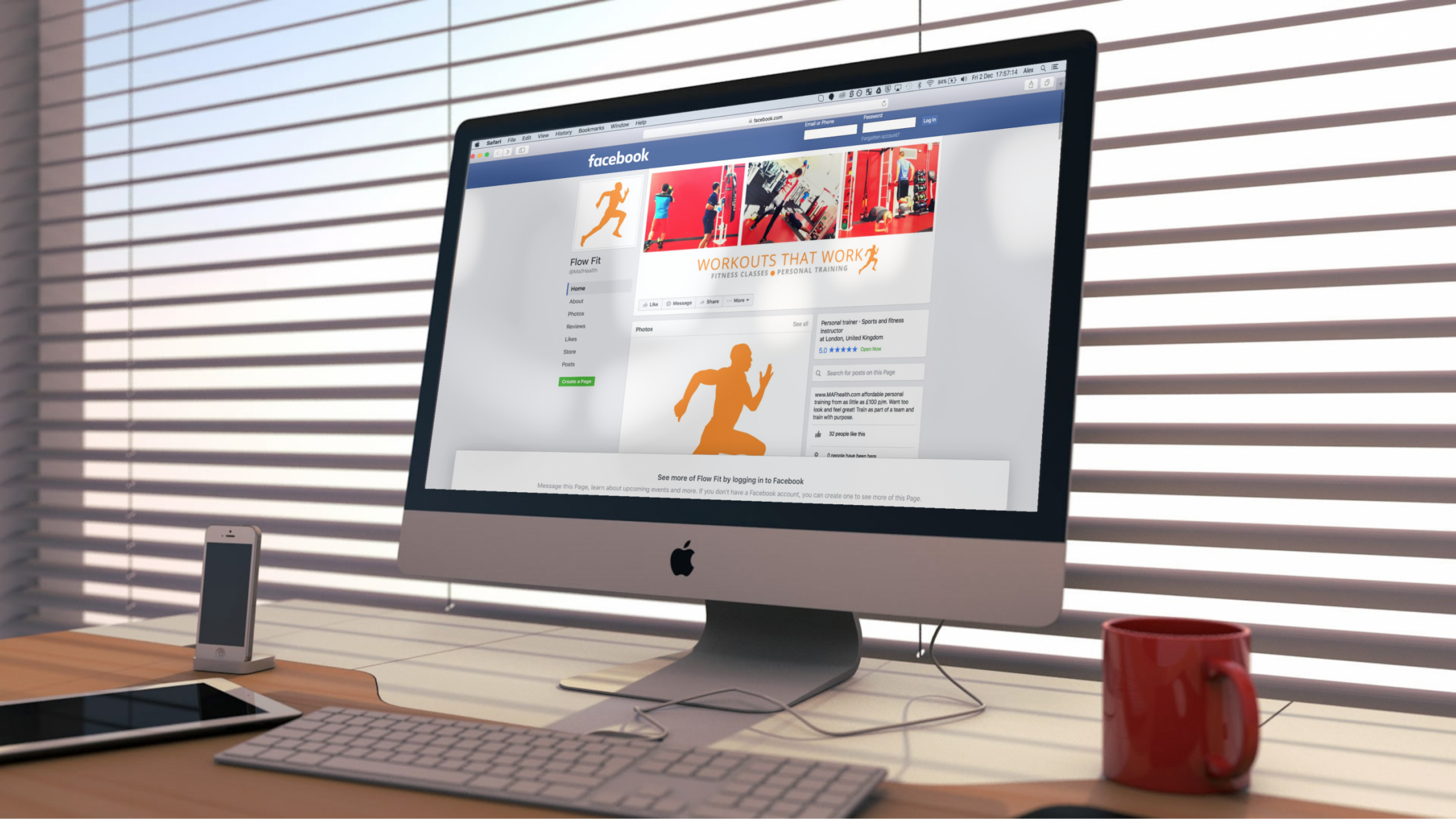ffit website mockup3 - Social Media Page Design for Fitness Instructor