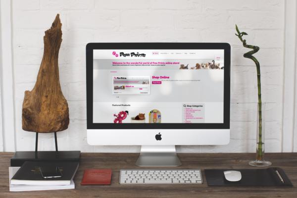 Webdesign for pet shop chain