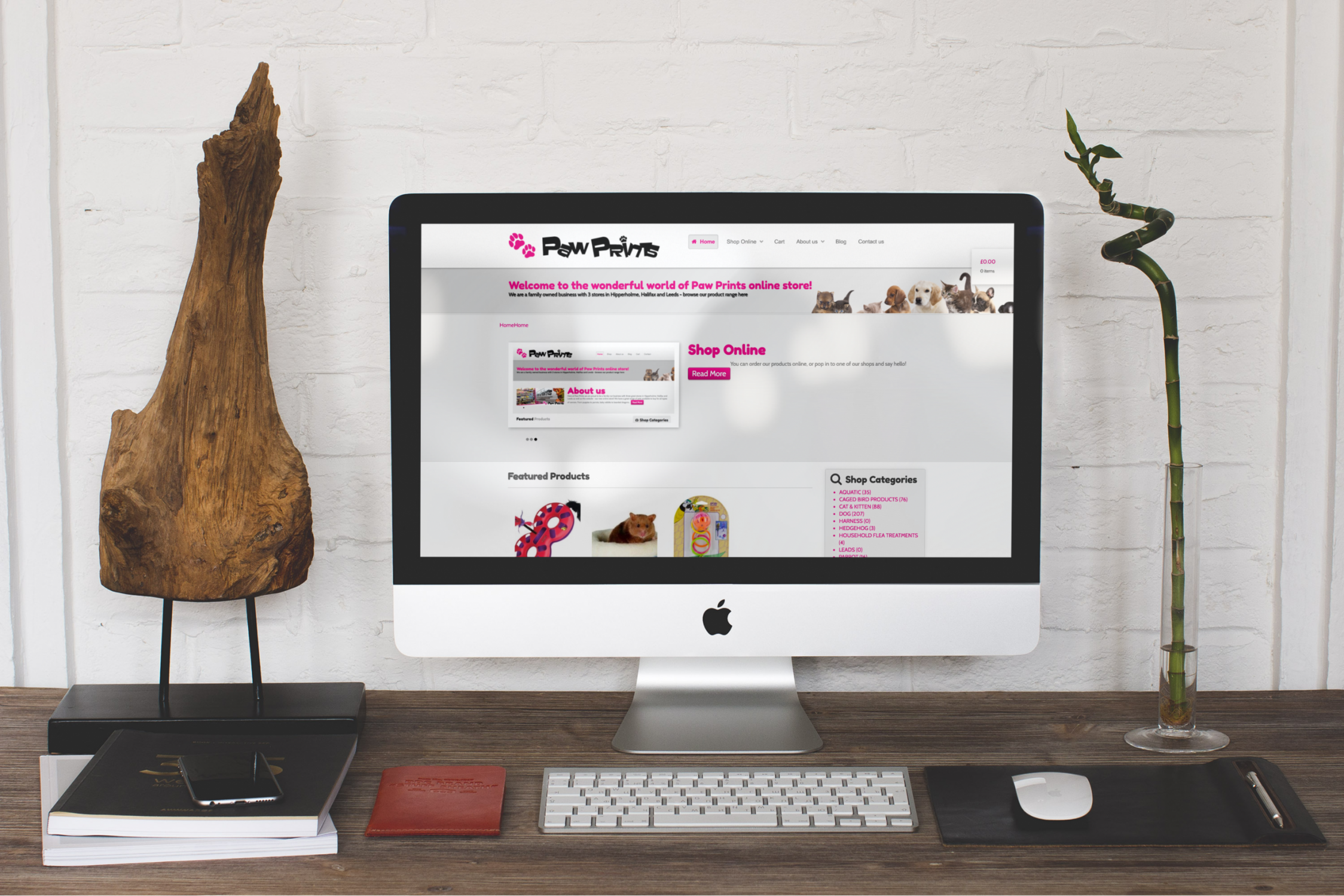 Webdesign for pet shop chain in Yorkshire
