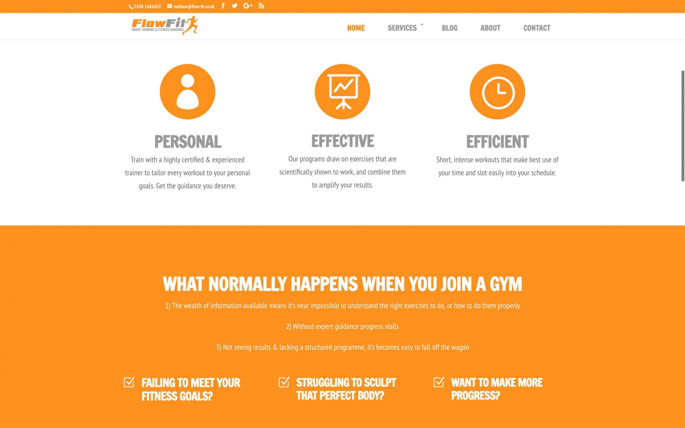 Screen Shot 2016 12 02 at 16.37.27 - Website Design for Fitness Instructor