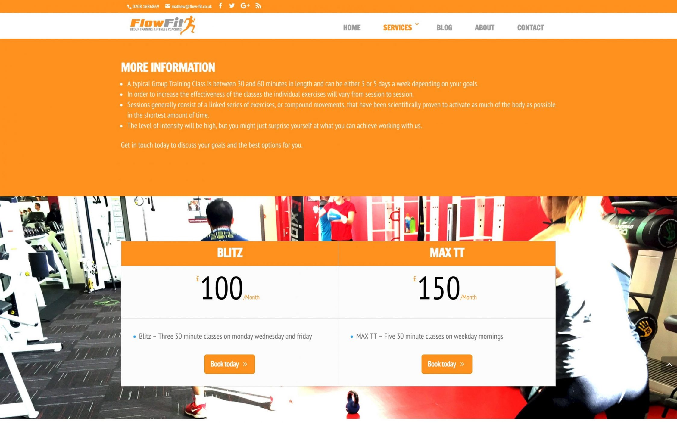 Screen Shot 2016 12 02 at 16.37.59 - Website Design for Fitness Instructor