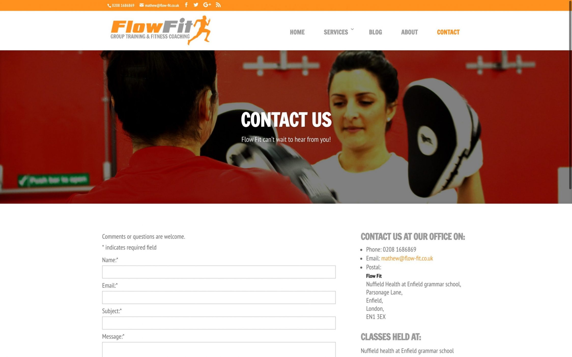Screen Shot 2016 12 02 at 16.38.14 - Website Design for Fitness Instructor
