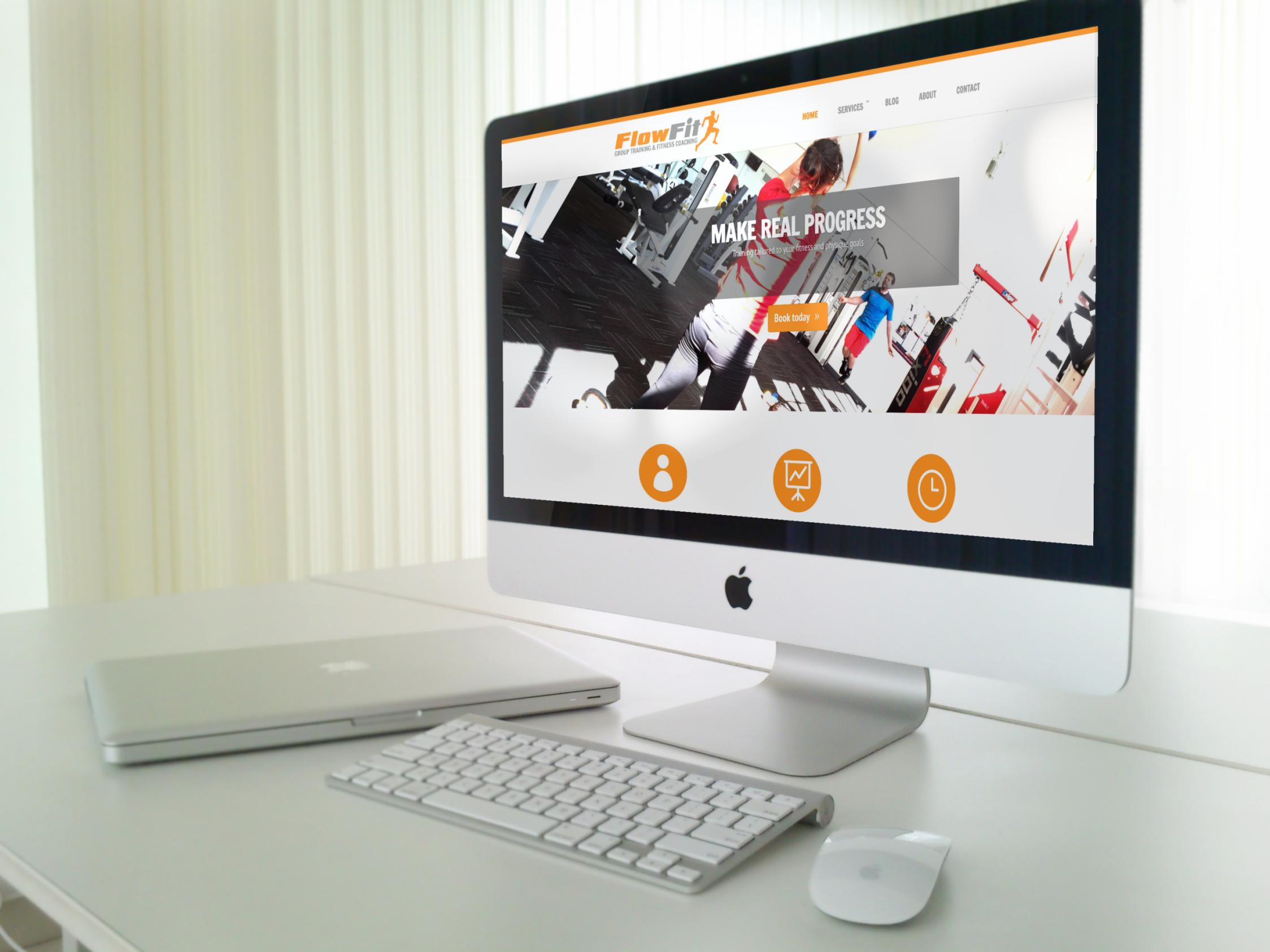 ffit website mockup1 - Fitness & gym graphic design services