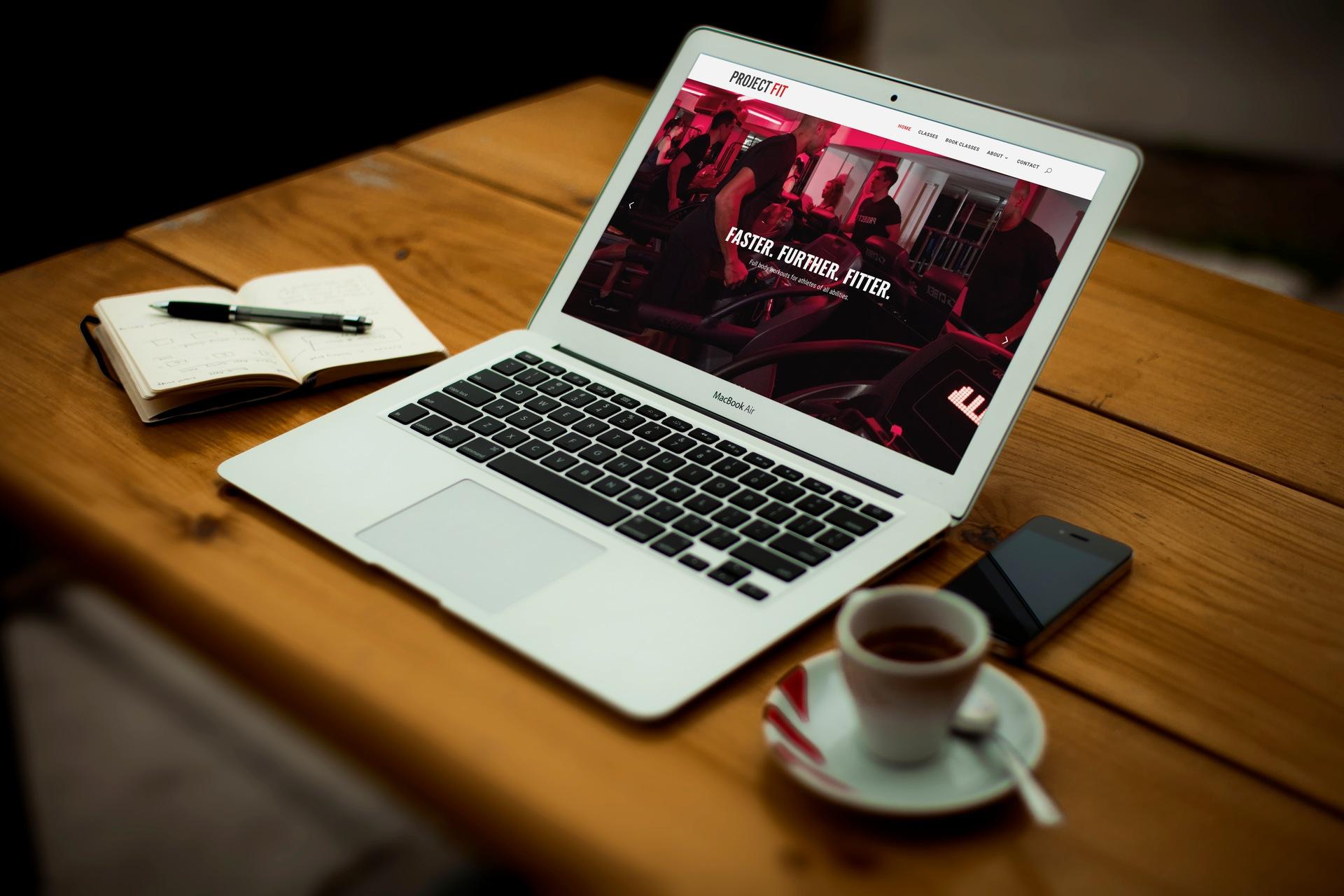 Website redesign for independent gym
