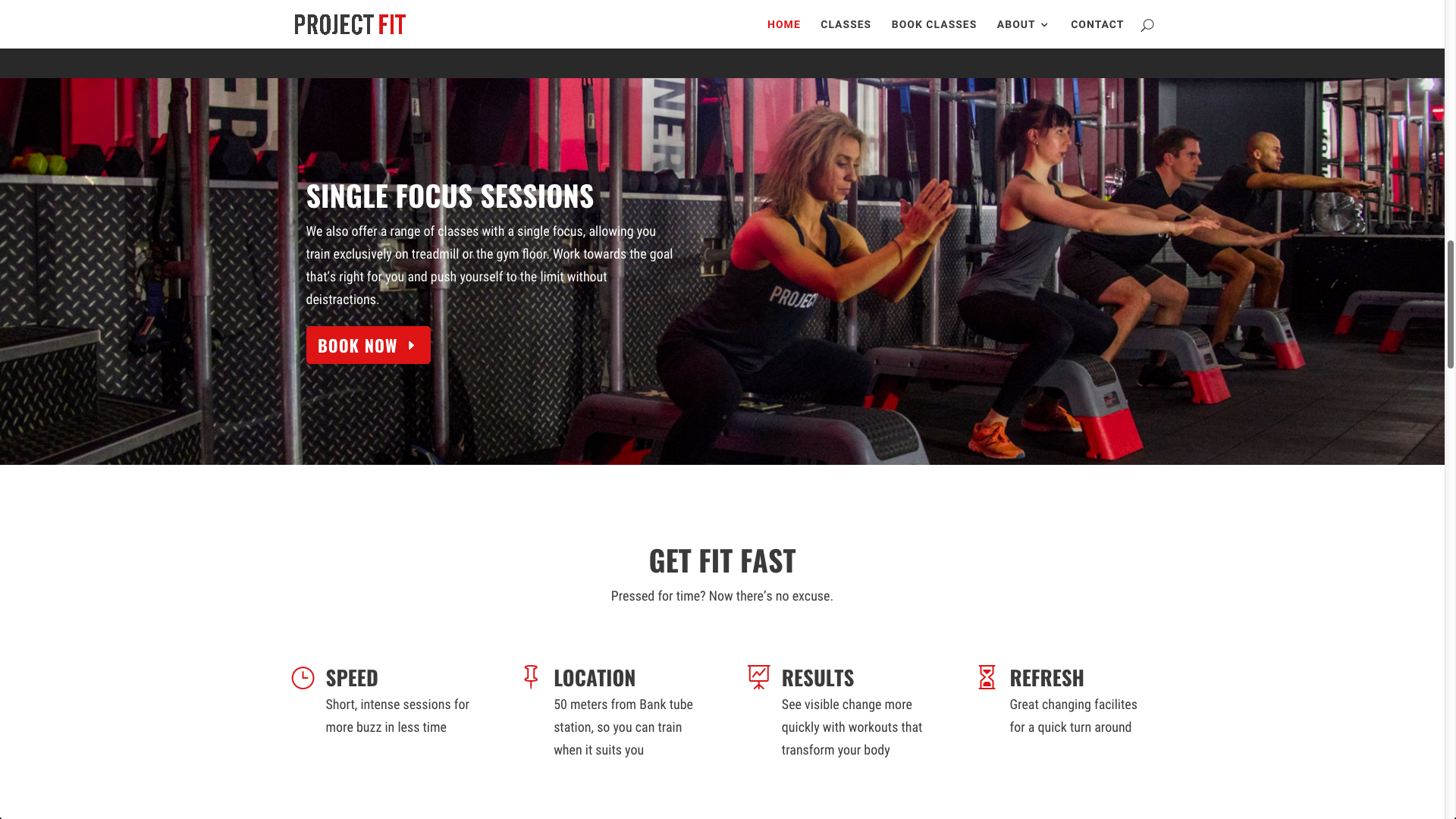 Project fit portfolio - Website redesign for independent gym