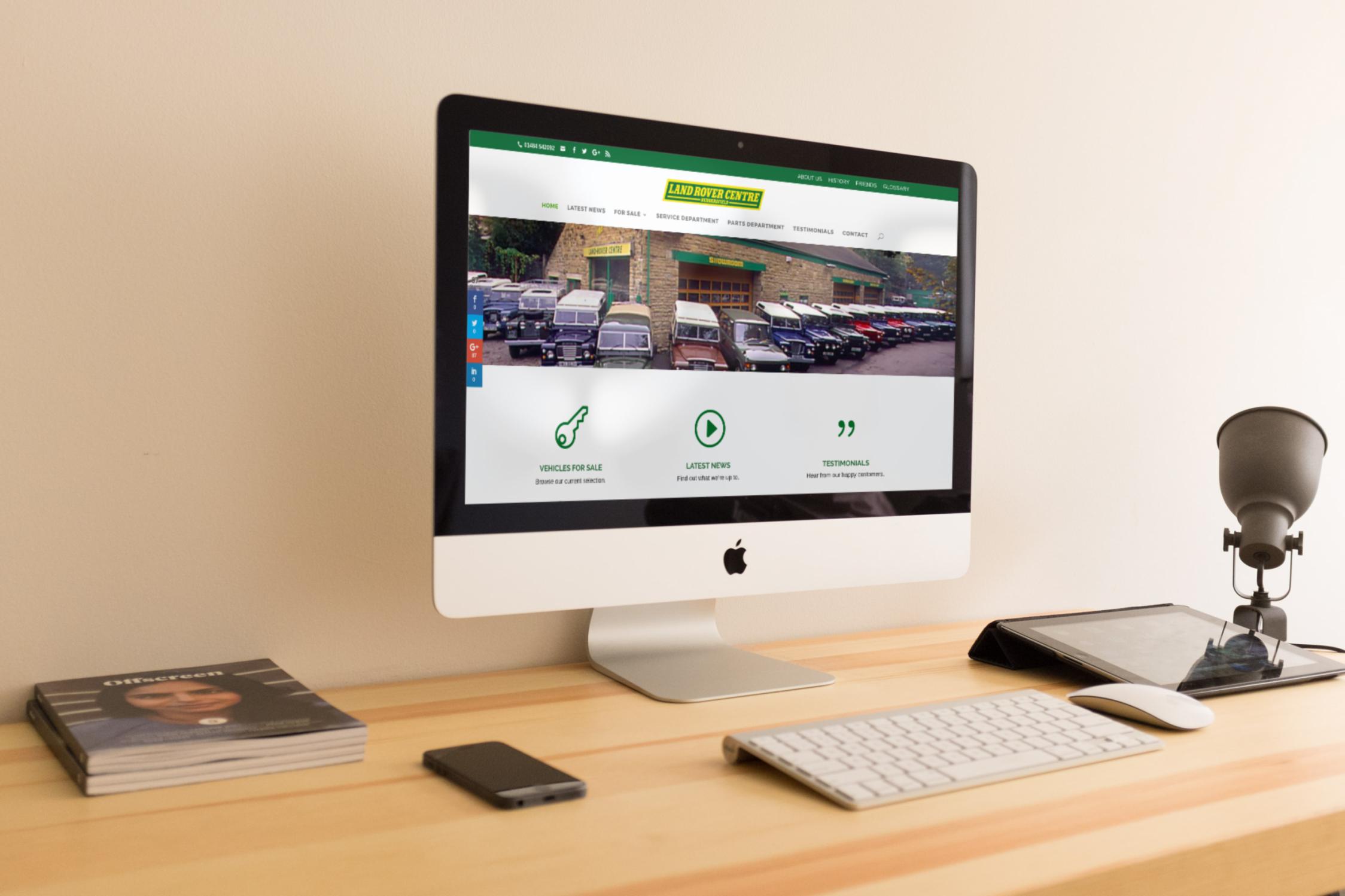 LRC homepage - Web development