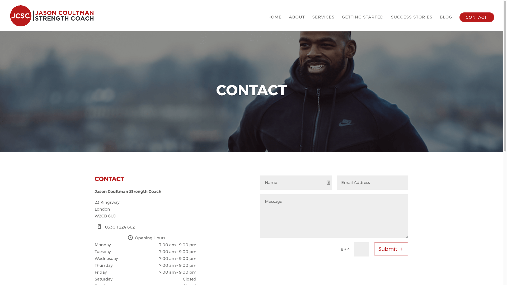JC3 - Website design for personal trainer in London
