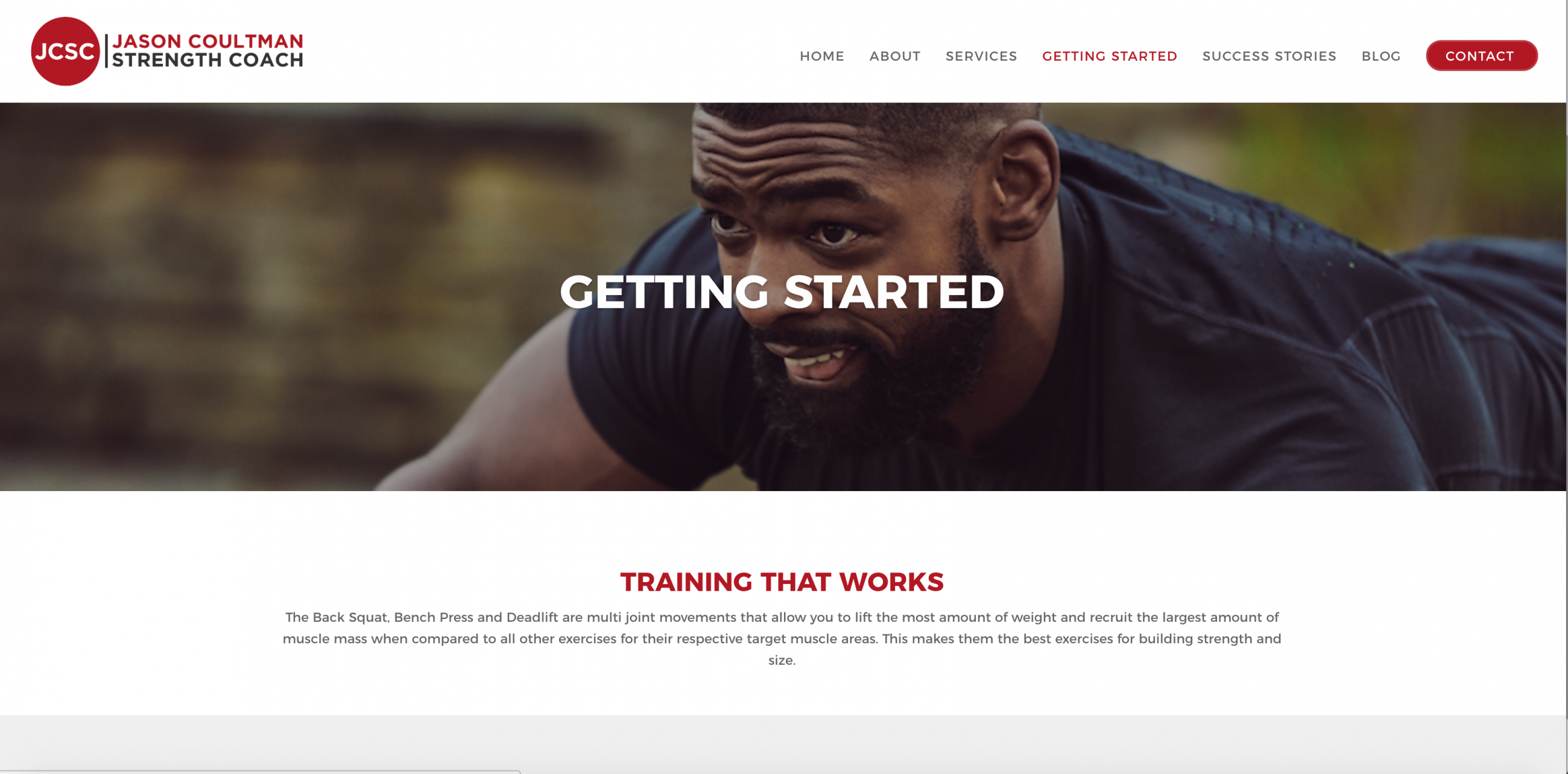 Website design for personal trainer in London
