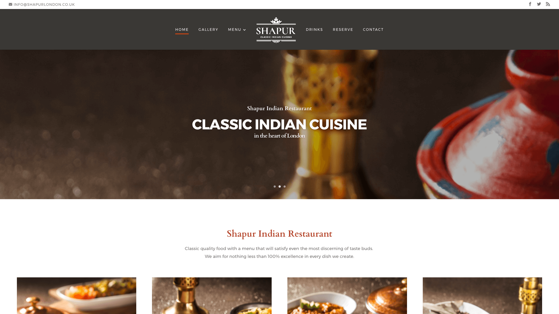 Shapur after 1 - Website design for Indian Restaurant