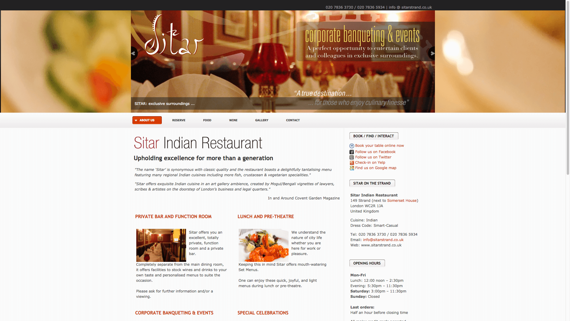 Shapur before 1 - Website design for Indian Restaurant