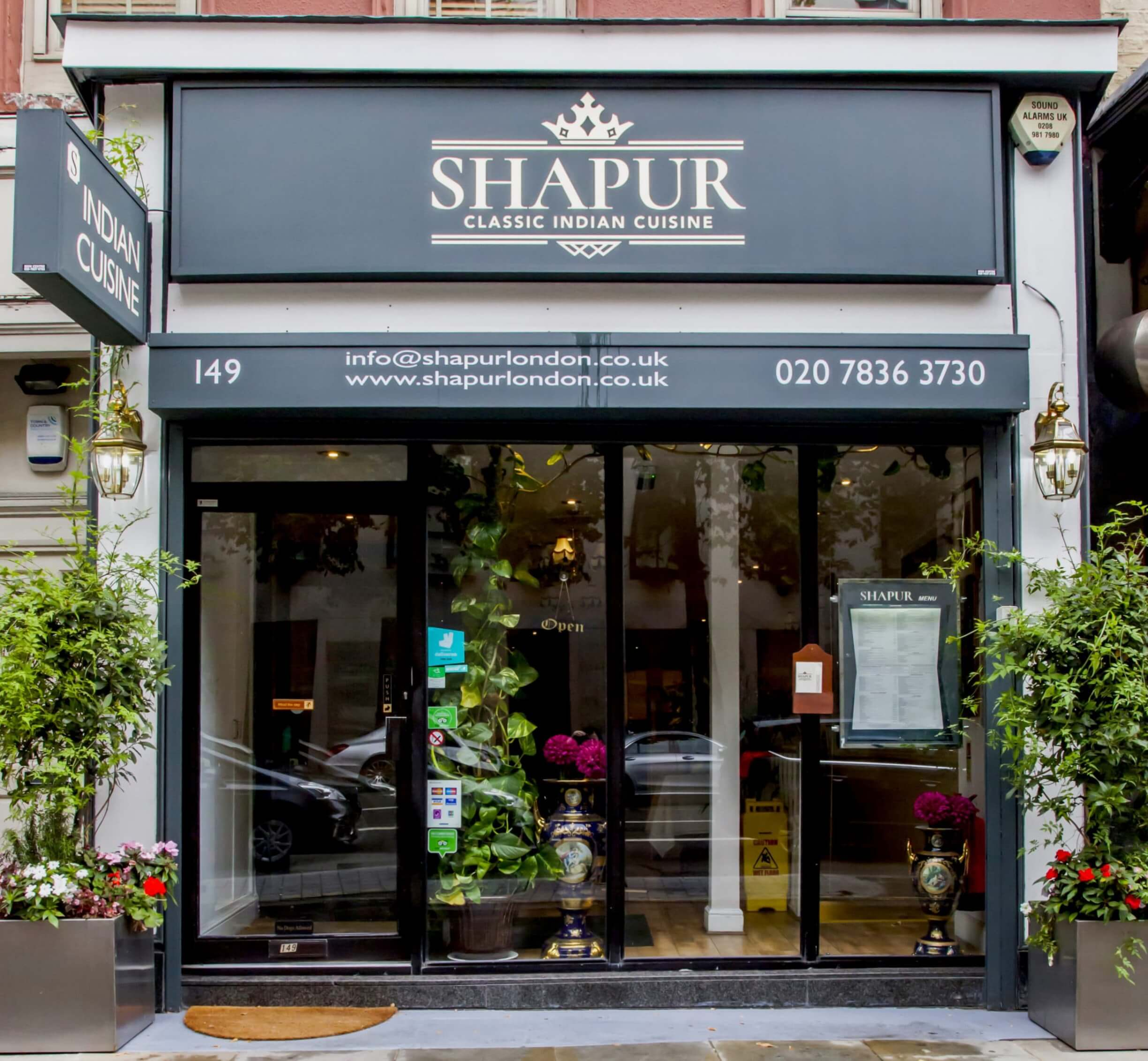 Our new branding for Shapur Indian Restaurant