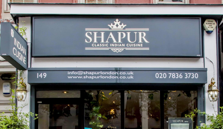 The new restaurant branding for Shapur