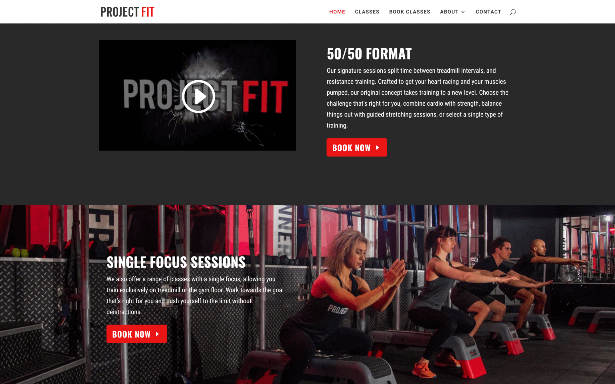 Project fit great photo example - Gym and Personal Trainer Website Design Tips 2017 health-fitness