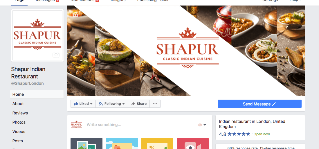 Indian Restaurant social media page e1503496320219 - Social media management for restaurant