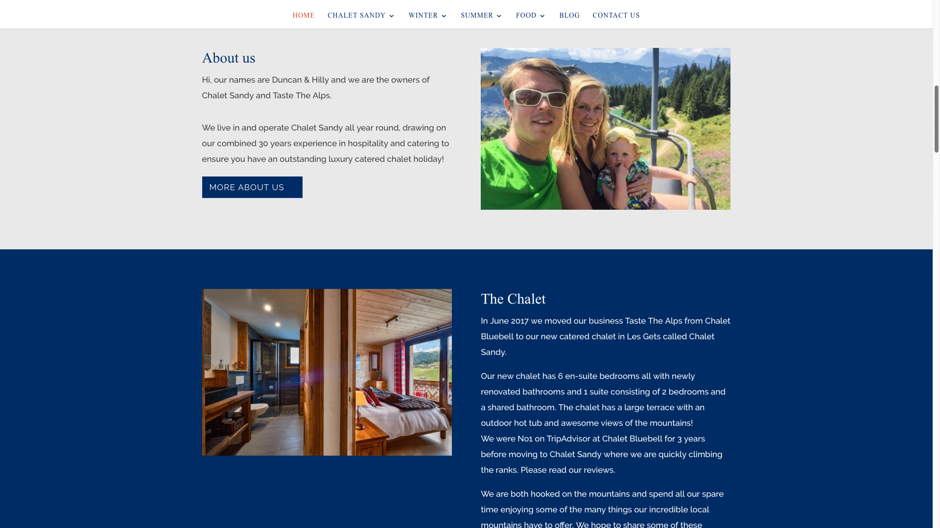 Screen Shot 2017 08 30 at 5.15.37 pm - Website design for ski chalet company