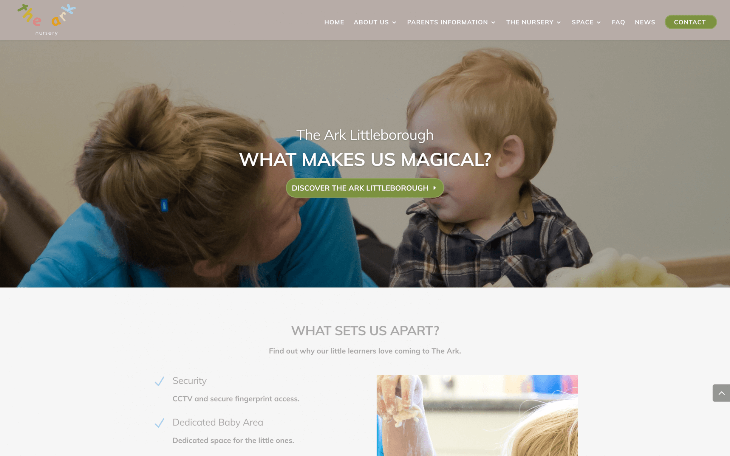 Screen Shot 2017 08 31 at 15.19.00 - Website design for new nursery school