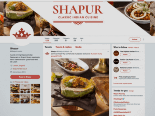 Social media management for restaurant