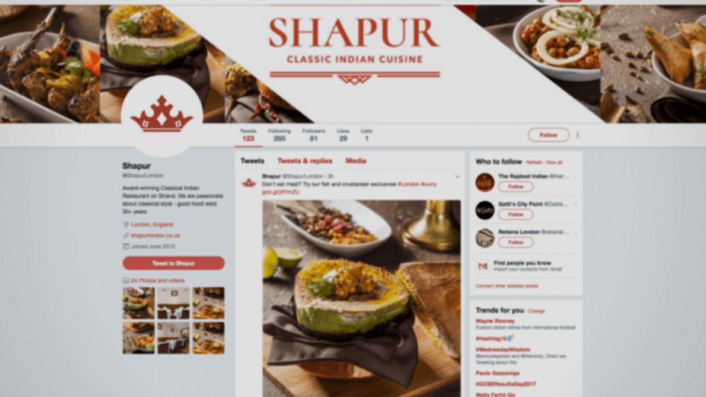 Social media management for restaurant