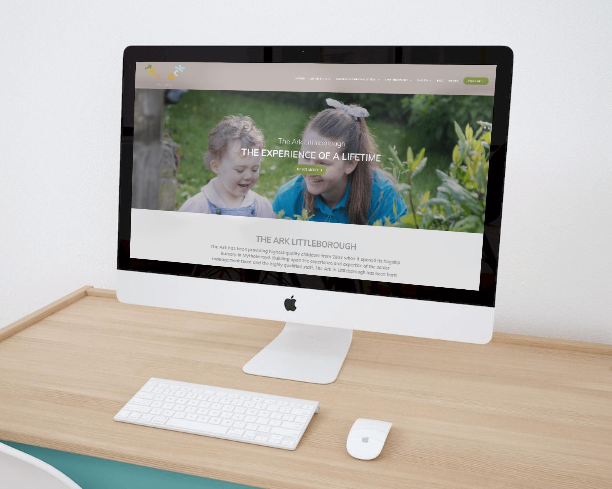 Website design for new nursery school