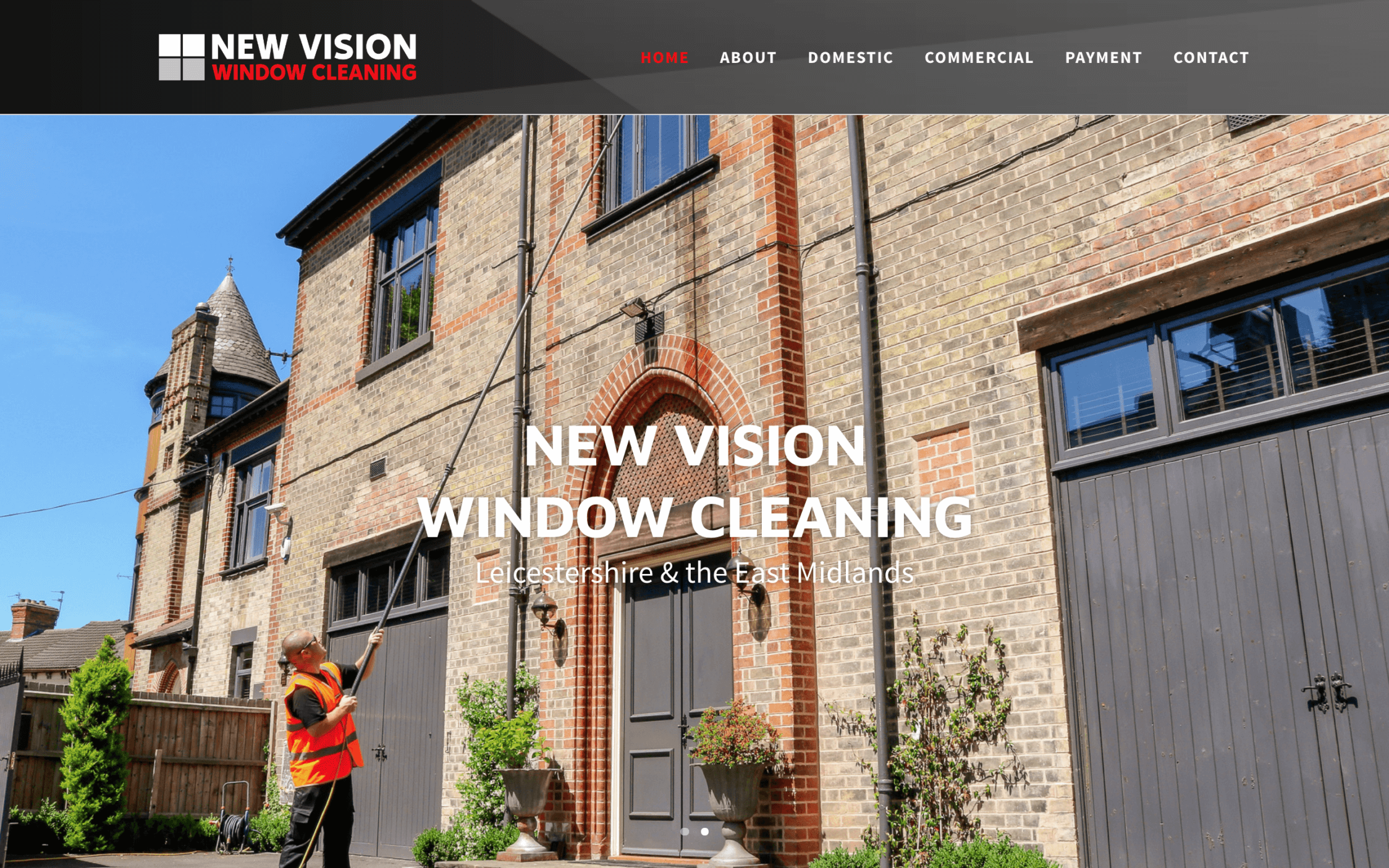 New Vision Window Cleaning Screenshotat 11.45.32 2 - Website design for window cleaning business