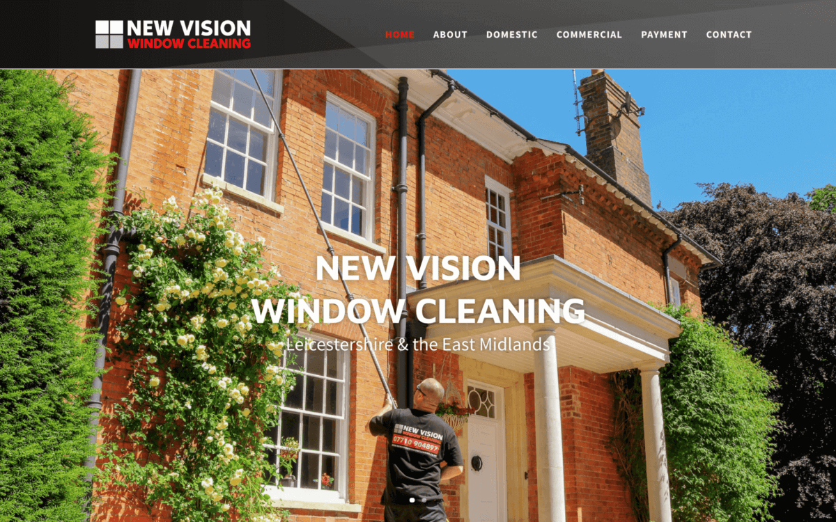 New Vision Window Cleaning Screenshotat 11.45.38 2 1200x750 - Website design for window cleaning business