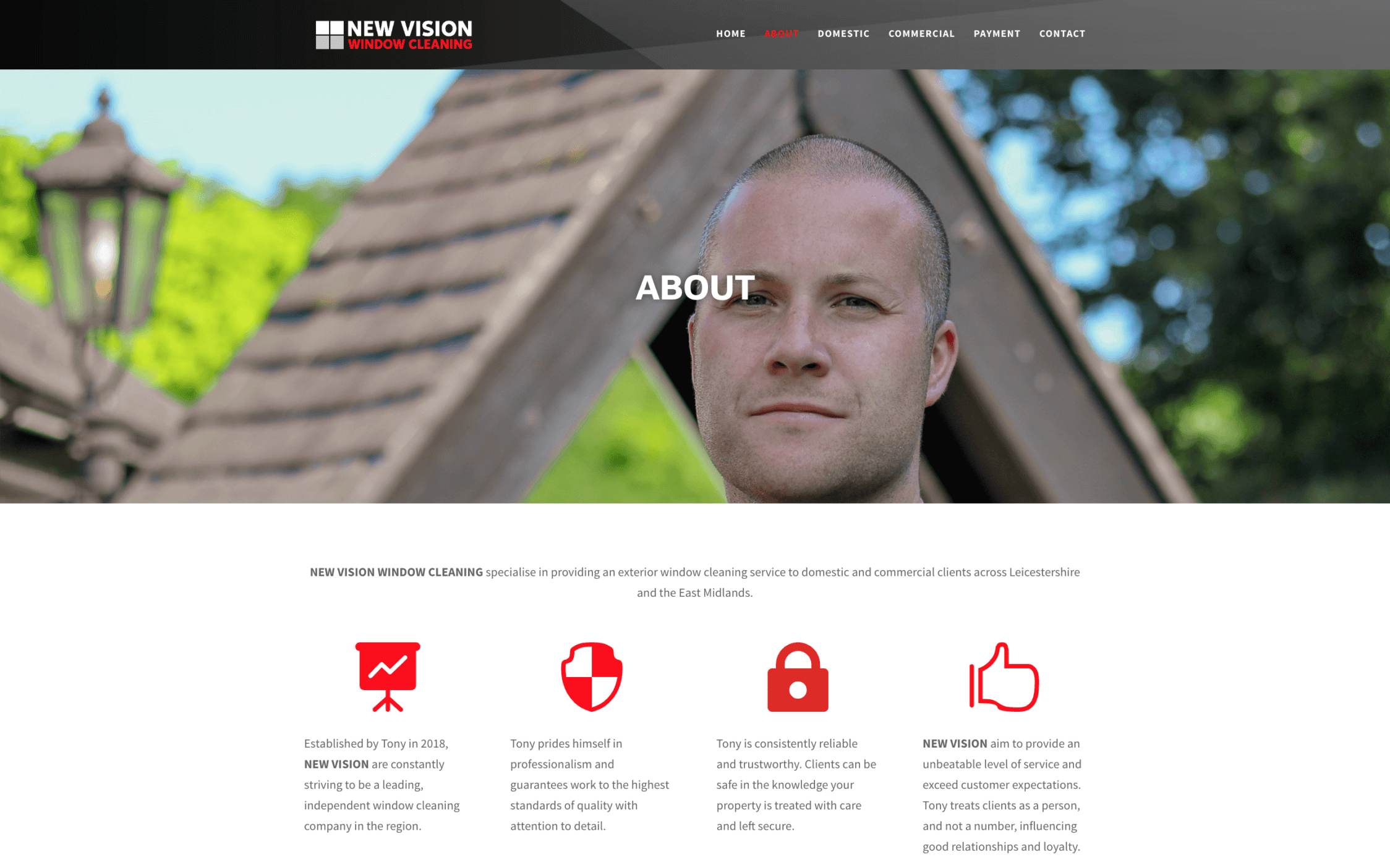 New Vision Window Cleaning Screenshotat 11.47.39 2 - Website design for window cleaning business