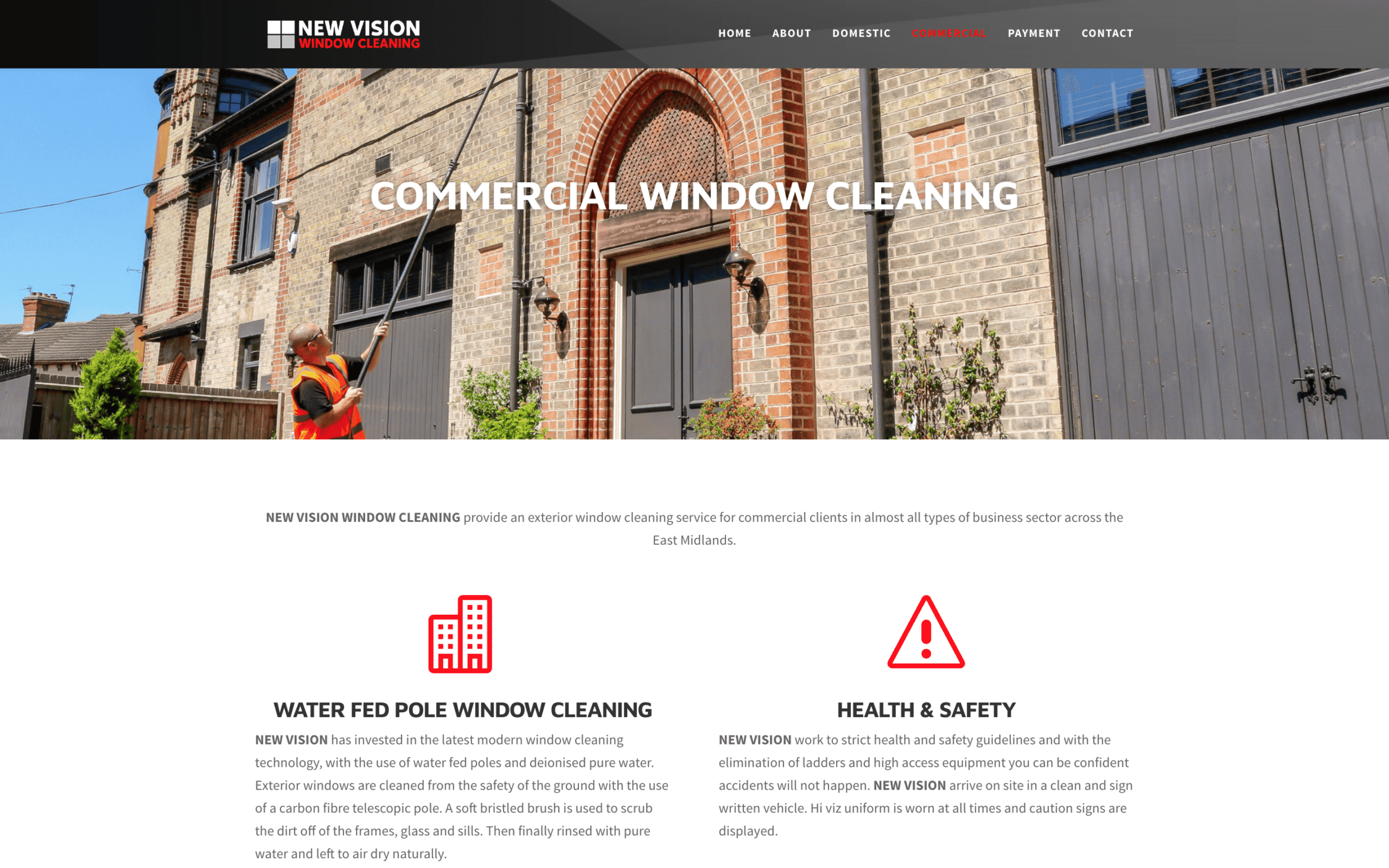 New Vision Window Cleaning Screenshotat 11.47.55 2 1 - Website design for window cleaning business