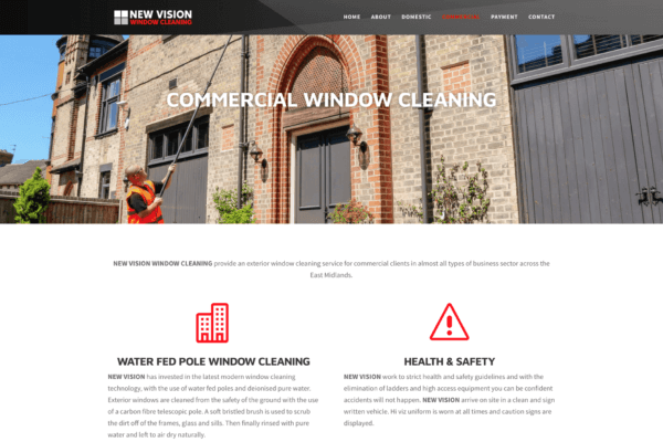 New Vision Window Cleaning Screenshotat 11.47.55 2 2 600x400 - Website design for window cleaning business